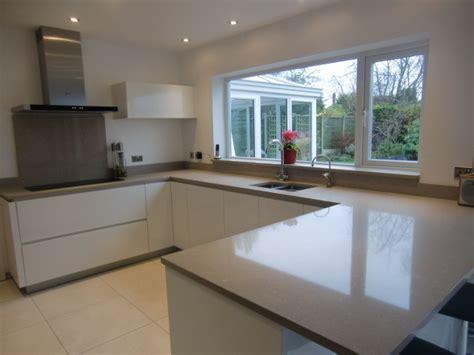 modern kitchen worktops shitake quartz worktops caesarstone modern kitchen