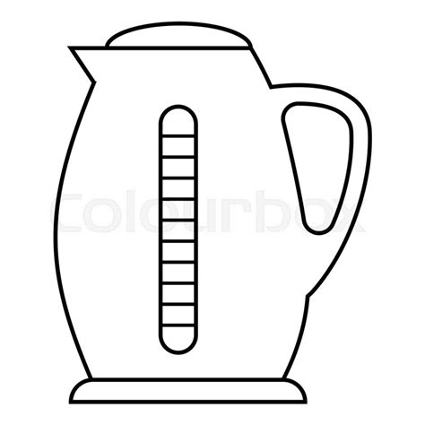 Water Pot Outline by Plastic Electric Kettle Icon Outline Illustration Of Plastic Electric Kettle Vector Icon For