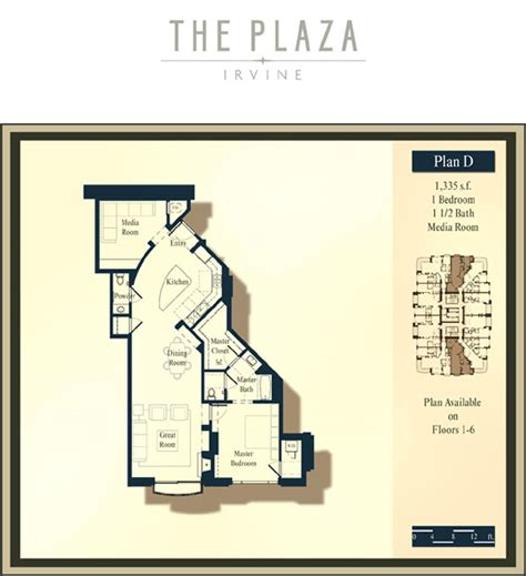 the plaza floor plans the plaza irvine floor plans