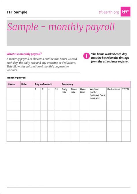 26 Payroll Sles Templates In Pdf Sle Templates Payroll Template Pdf