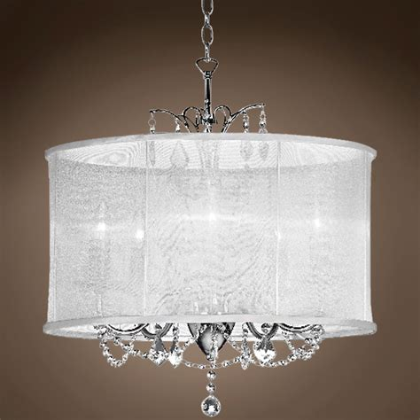 5 light drum shade chandelier joshua marshal 5 light drum shade chandelier in chrome