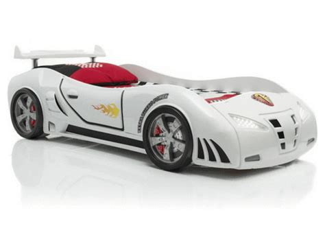 Ventura White speedster ventura white car bed with lights and sounds