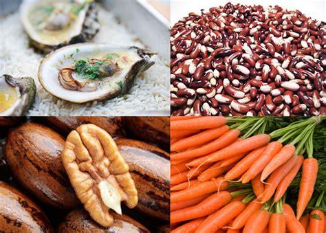 que alimentos contienen zinc alimentos ricos en zinc para la buena salud