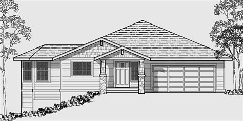 side slope house plans side sloping lot house plans walkout basement house plans 10018
