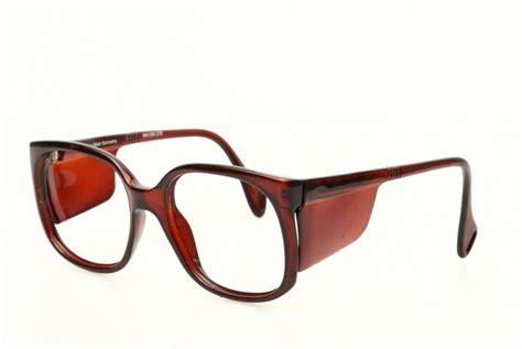 trendy vintage side shields eyeglasses brown