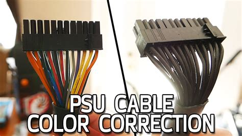 power supply cable color correction