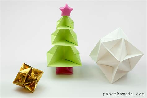 origami tree tutorial paper kawaii