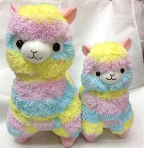 free shipping 1pcs rainbow alpaca plush toy japanese soft