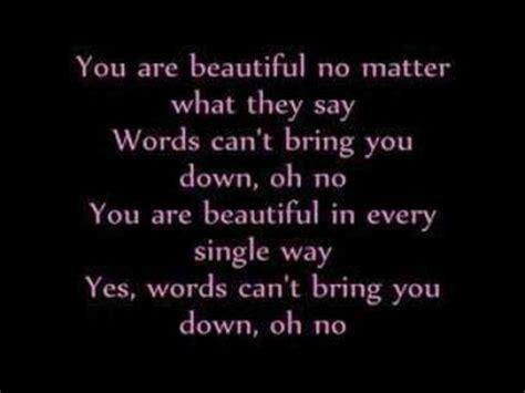 beautiful lyrics beautiful lyrics