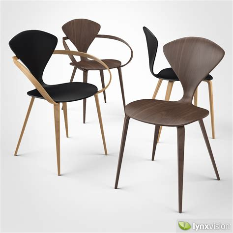 cherner side chair and armchair 3d model max obj 3ds