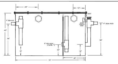 grease trap diagram diy grease trap design diy do it your self