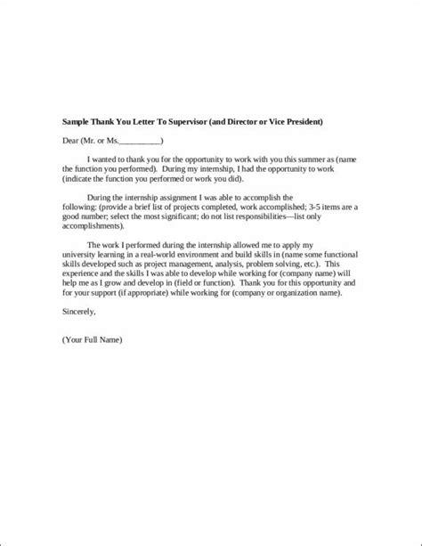 internship thank you letter 10 internship thank you letter sles templates 1332
