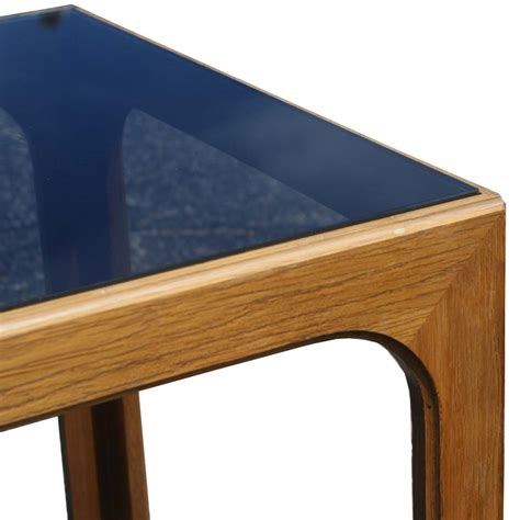 wood and glass end tables 27 quot vintage wood and glass side end table mr9527 ebay