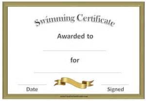 swimming award certificate template free swimming certificates