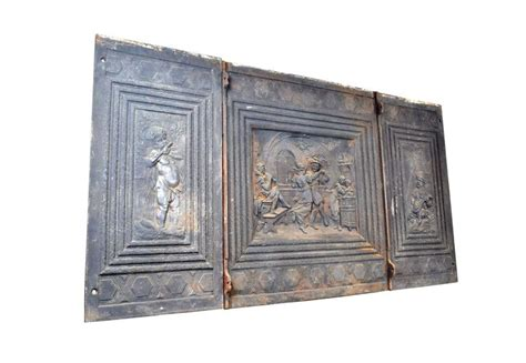 Cast Iron Fireplace Back by Cast Iron Decorative Fireplace Back Circa 1900 At 1stdibs