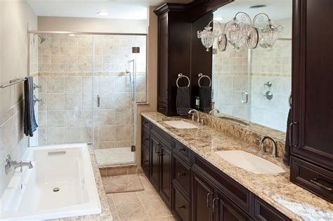 bathroom remodeling three bathroom remodels in a basking ridge home skydell