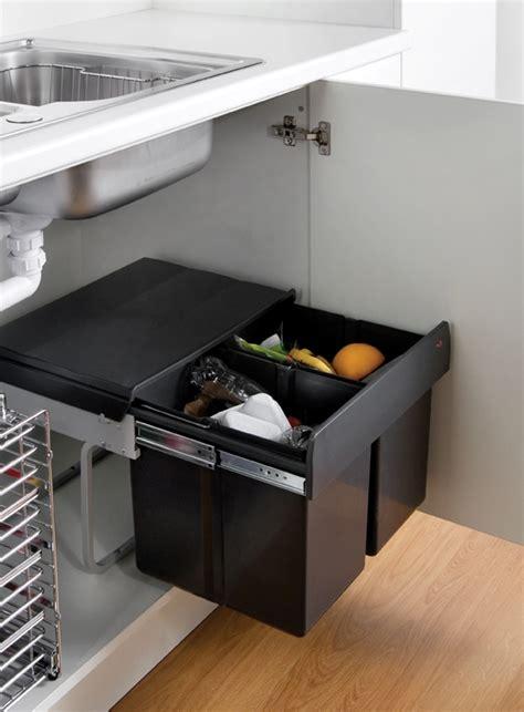 Kitchen Trash Bin Cabinet Waste Bin Below Sink Interior Design Ideas