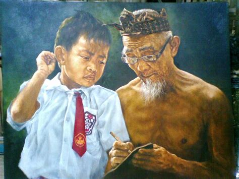lukisan realis naturalis mashuri sragi lukisan realis