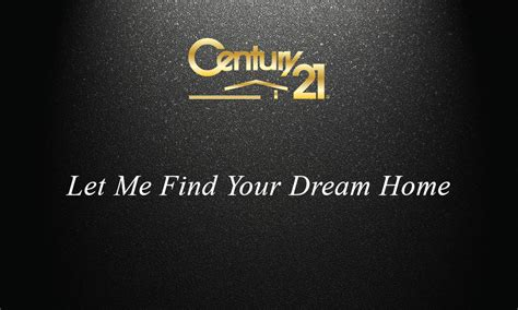 Century 21 Gift Card - century 21 black realtor business card design 102311