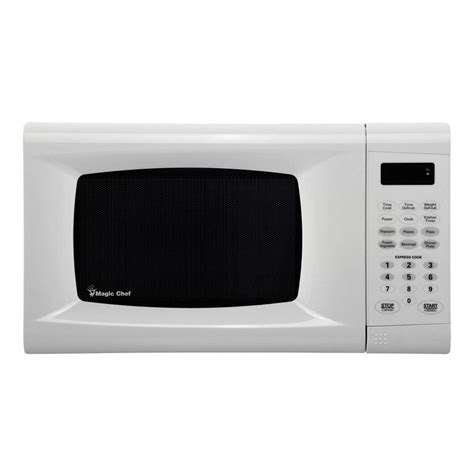 Magic Chef 0 9 Cu Ft Countertop Microwave In Stainless Steel magic chef 0 9 cu ft countertop microwave in white mcm990w the home depot