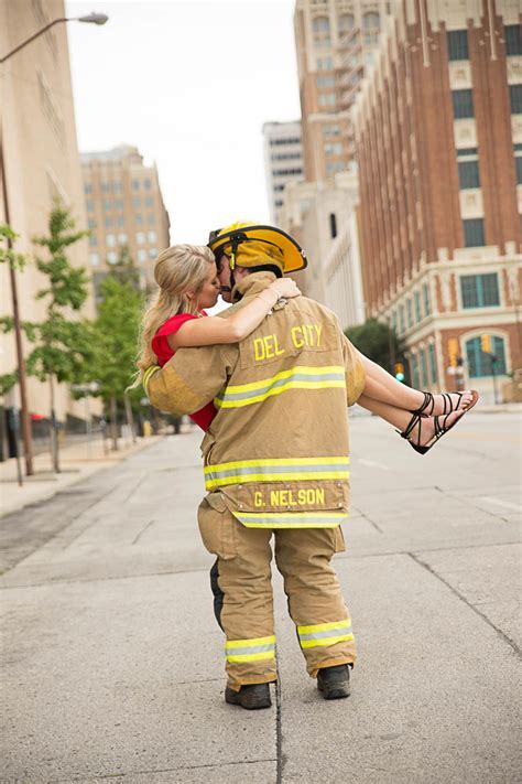 Fireman Engagement Photos   My Treasured Memories Photography