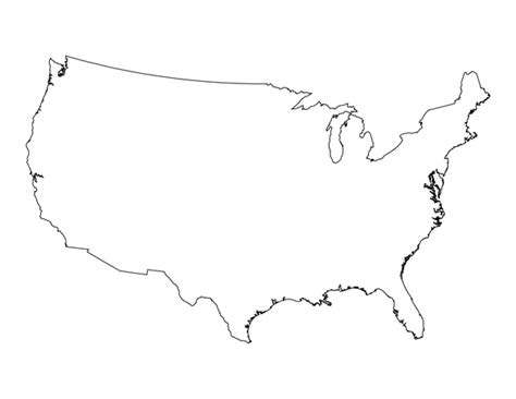 us map outline states blank blank us map printable pdf