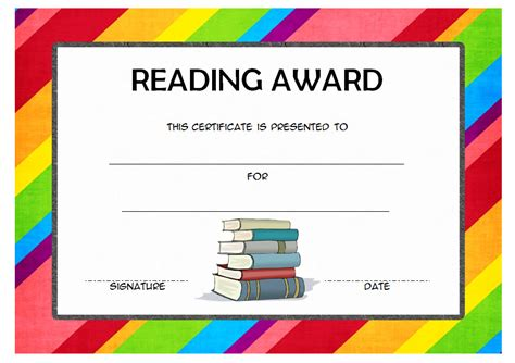 free award certificate templates for students reading award certificate templates the best template