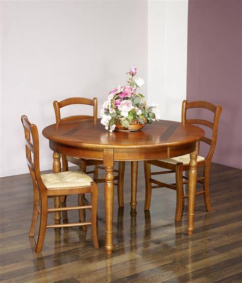 table ronde avec allonges 1276 table ronde 4 pieds plateau marquett 233 en merisier de style