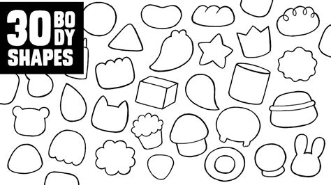 how to create a doodle character 30 character shapes to doodle