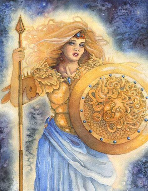 goddess of wisdom mixed media greek mythology athena