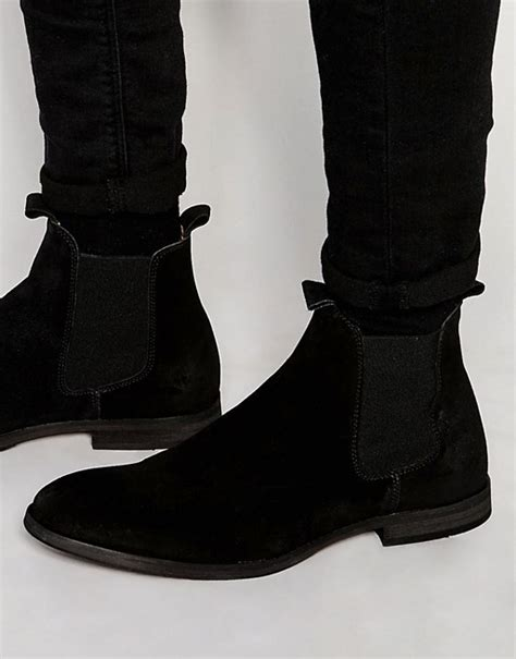 selected homme selected homme melvin suede chelsea boots