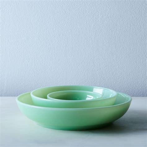 Jadeite Glass Shallow Bowls (Set of 4) on Food52