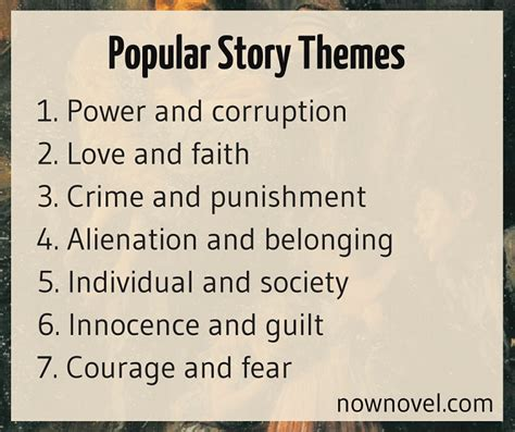 Themes For A Good Story | how to choose good themes for stories 5 tips now novel