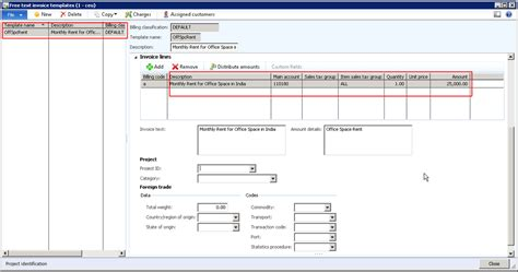 Invoice Layout Ax 2012 | process automatic recurring free text invoices with