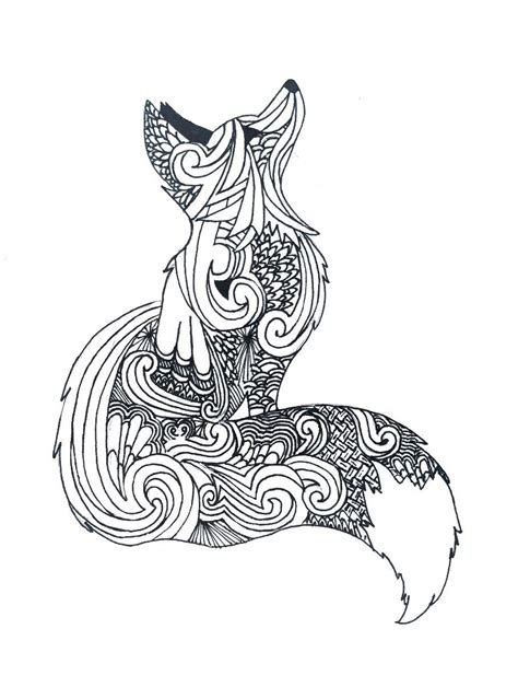 zentangle tattoo animal zentangle fox my art pinterest foxes tattoo and