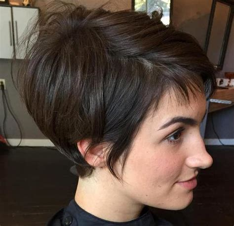 cross between a bob and pixie haircut 35 trendiest short brown hairstyles and haircuts to try