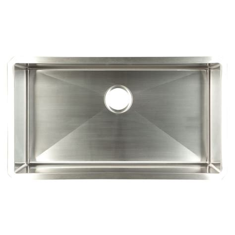 Stainless Steel Sink For Kitchen Shop Franke Usa Frankeusa 18 In X 32 In Satin Bowl Single Basin Stainless Steel Undermount