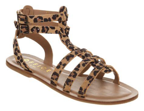 leopard gladiator sandals office helena gladiator leopard print suede sandals ebay