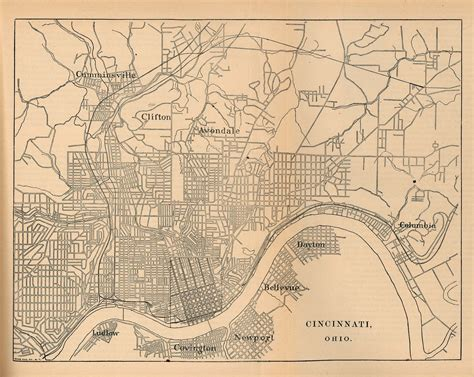 us map showing cincinnati statemaster maps of ohio 18 in total