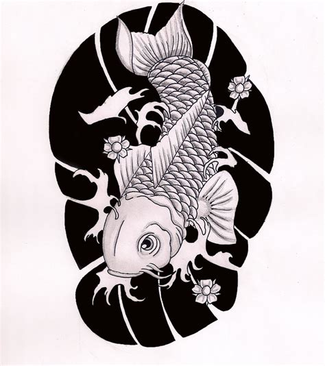 koi fish tattoo designs black and white koi fish black and white sleeve