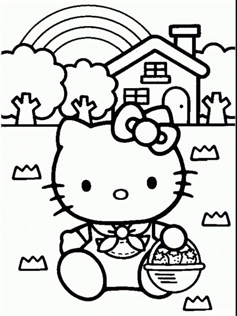Cute Coloring Pages Hello Kitty | free printable hello kitty coloring pages for kids