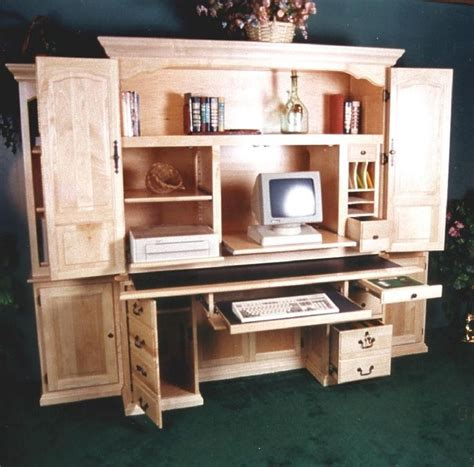 Armoire Workstation by Computer Armoire Desk Things I Want Hubby To Make