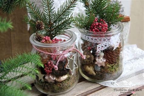 Weihnachtsdeko Gartentisch by Weihnachtsdeko Vintage Weckglas Tischlein Deck Dich