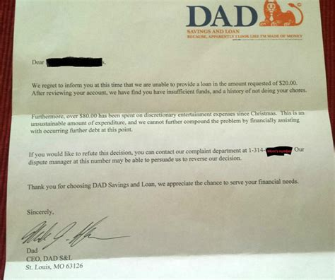 Rejection Letter Of The Year bank of loan rejection letter the poke