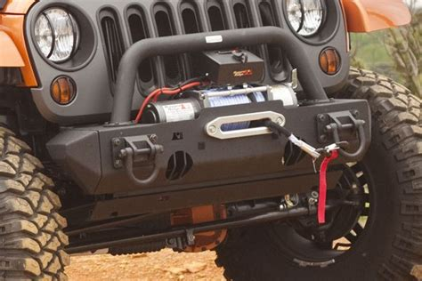 2013 Jeep Wrangler Parts And Accessories Stub Ends Xhd Front Bumper Textured Black Wrangler