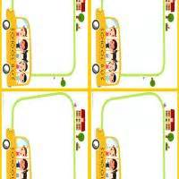printable bus tags kindergarten school bus name tags