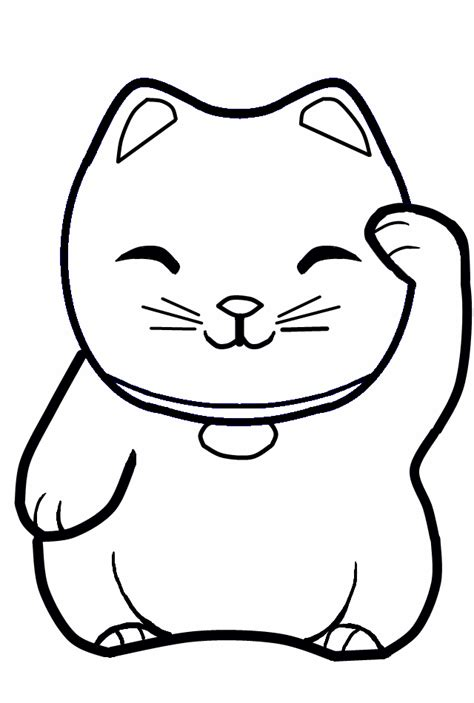 lucky cat coloring page lucky cat by kvins on deviantart