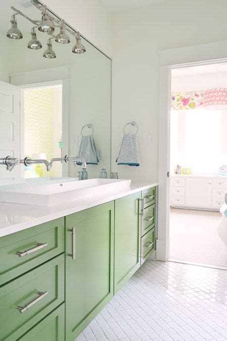 green kids bathroom our showhouse