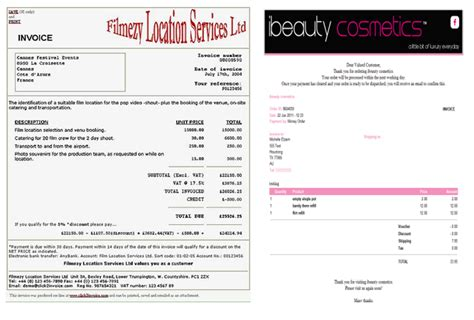 makeup artist invoice template free invoice template