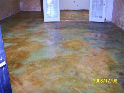 Stained concrete, Acid stained concrete and Concrete
